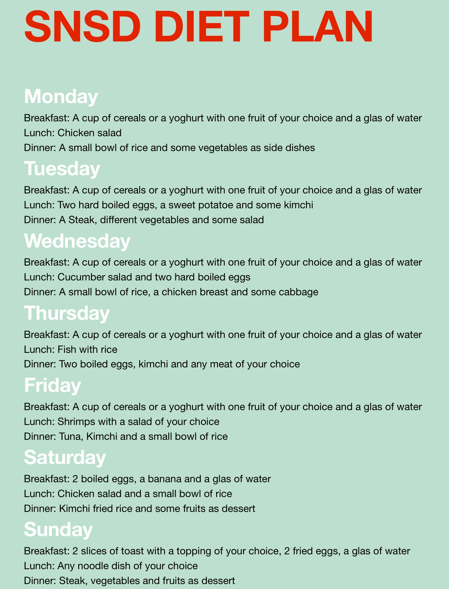 diet chart for girl to lose weight