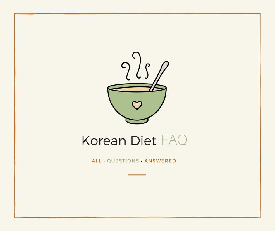 The Korean diet FAQ